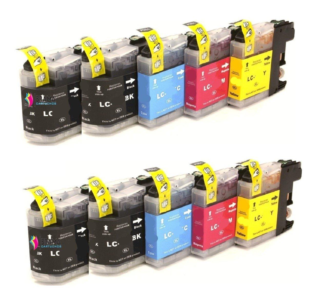 10 x Cartuchos Compatibles para Brother Lc121 Lc123 XL ALTA ...