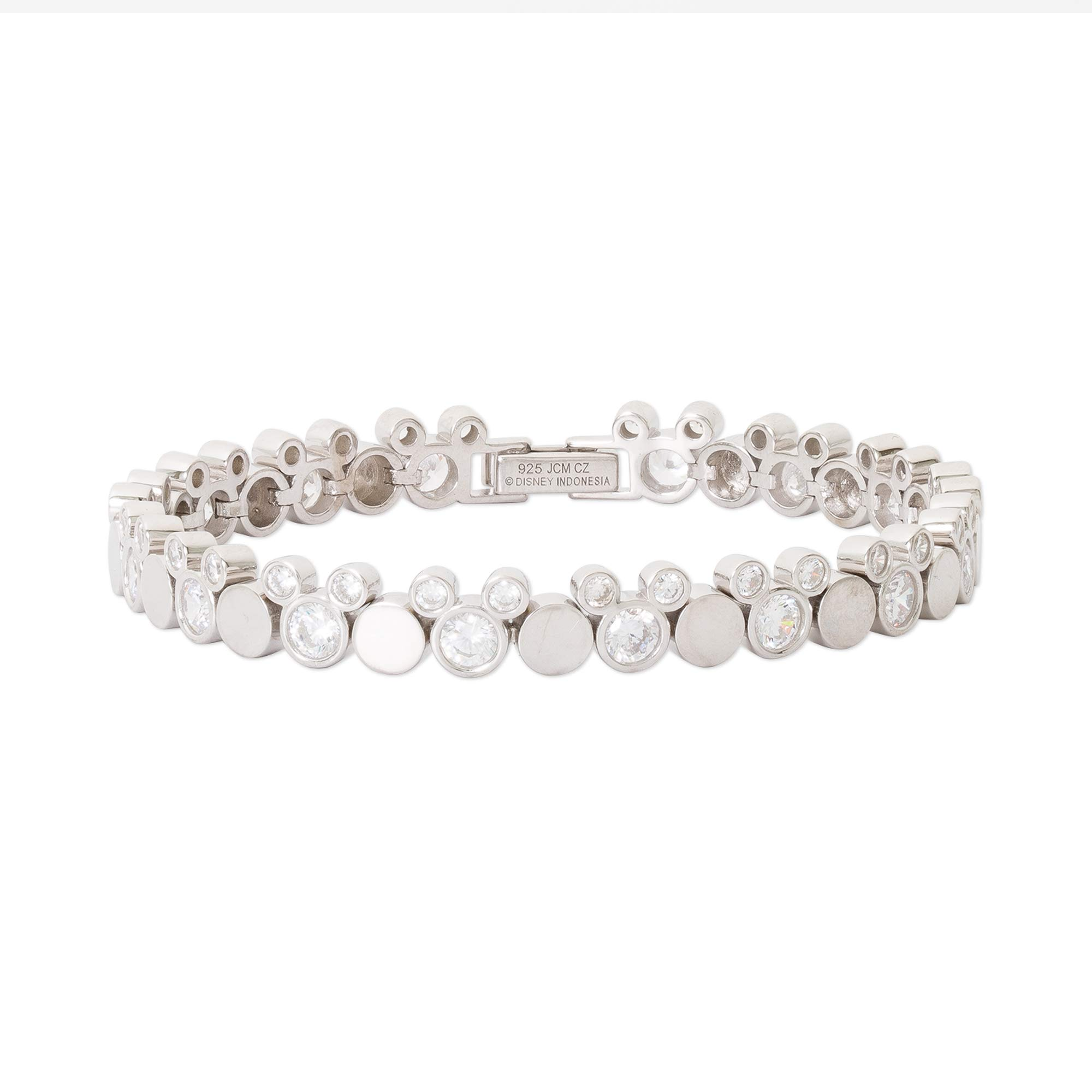 Disney Mickey Mouse Jewelry for Women and Girls, Sterling Silver Tennis Bracelet; Mickey's 90th Birthday Anniversary by Disney