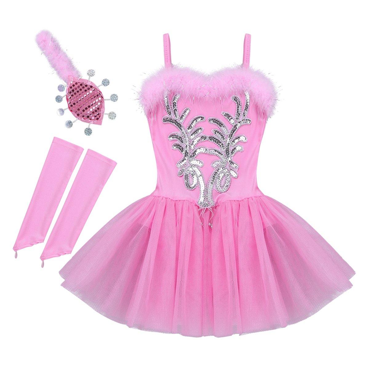 ranrann DRESS ガールズ B07HK68F2J 7 / 8|ピンク ピンク 43654