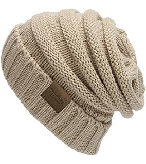 e999c63a6 MINAKOLIFE Soft Slouchy Hat Extra Long Cable Knit Beanie Cap Black ...