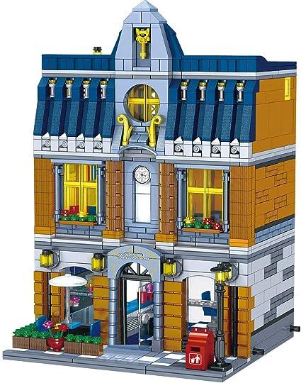 Building Block Set Modular City Garden City Street Toy Bricks for Kids Gift