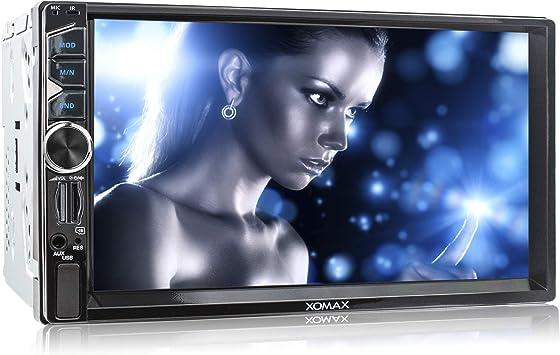 XOMAX XM-2V717 Radio para Coche I 18cm / 7 Pantalla táctil I Bluetooth Manos Libres I USB I SD I 2 DIN