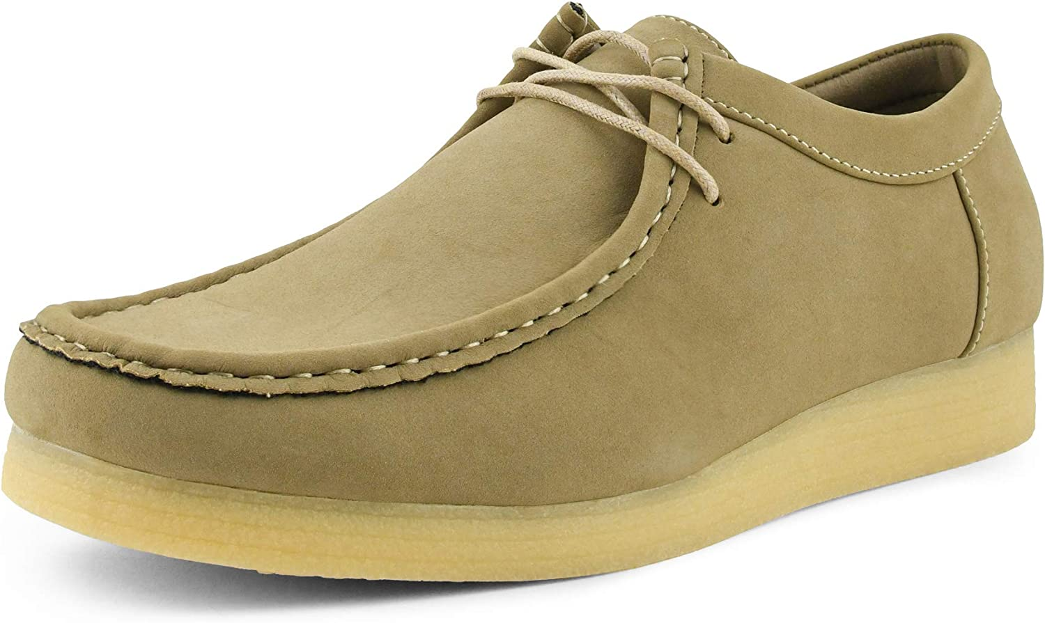Lace Up Manmade Suede Moc Toe Chukka Boots Crepe Rubber Sole Casual Boots Low - Mens Low Top Casual Boots Mens Moc Toe Chukka Boots Amali Jason2