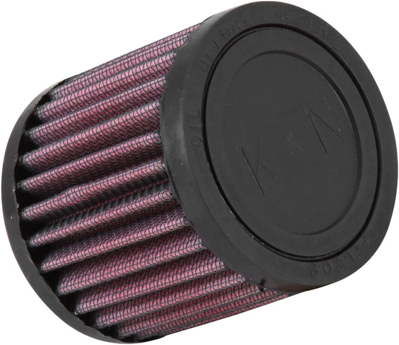 76 mm Top 32 mm Flange ID; 3 in K/&N RU-0060 Universal Clamp-On Air Filter: Round Straight; 1.25 in 76 mm Height; 3 in Base; 3 in 76 mm