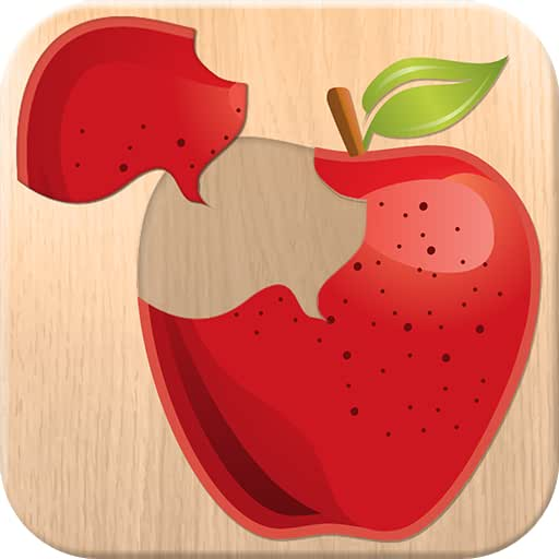 Food puzzle for kids - free fun educational game for preschool children; learn fruits & vegetable names
