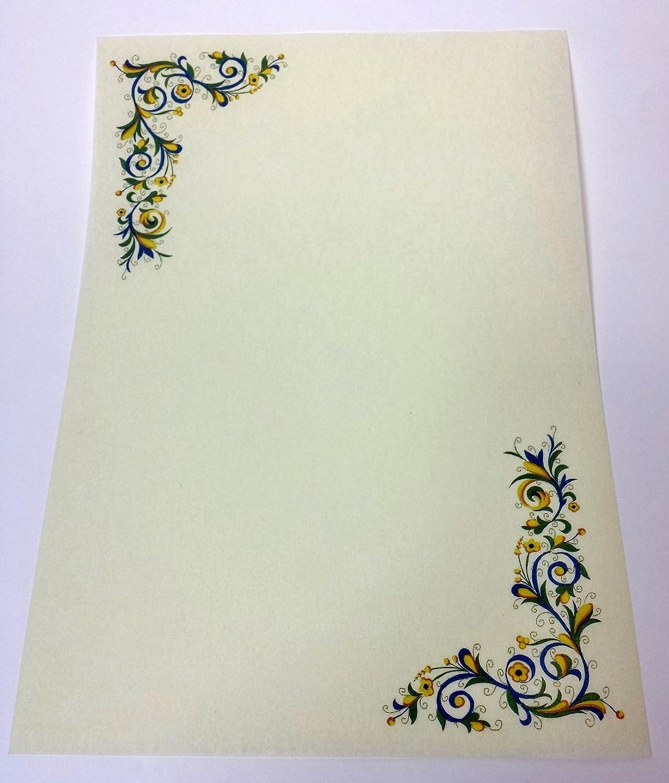 N° 5 PERGAMENA A4 STAMPABILE DIPLOMA CARTA DECORATA avorio cartoncino marmor 5 KARTOS
