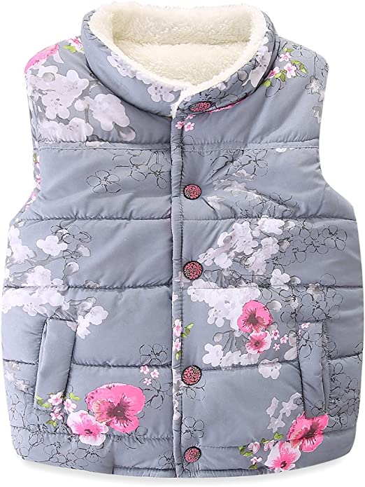 Mud Kingdom Girls Zip-up Hooded Coat and Trousers Outfit Floral