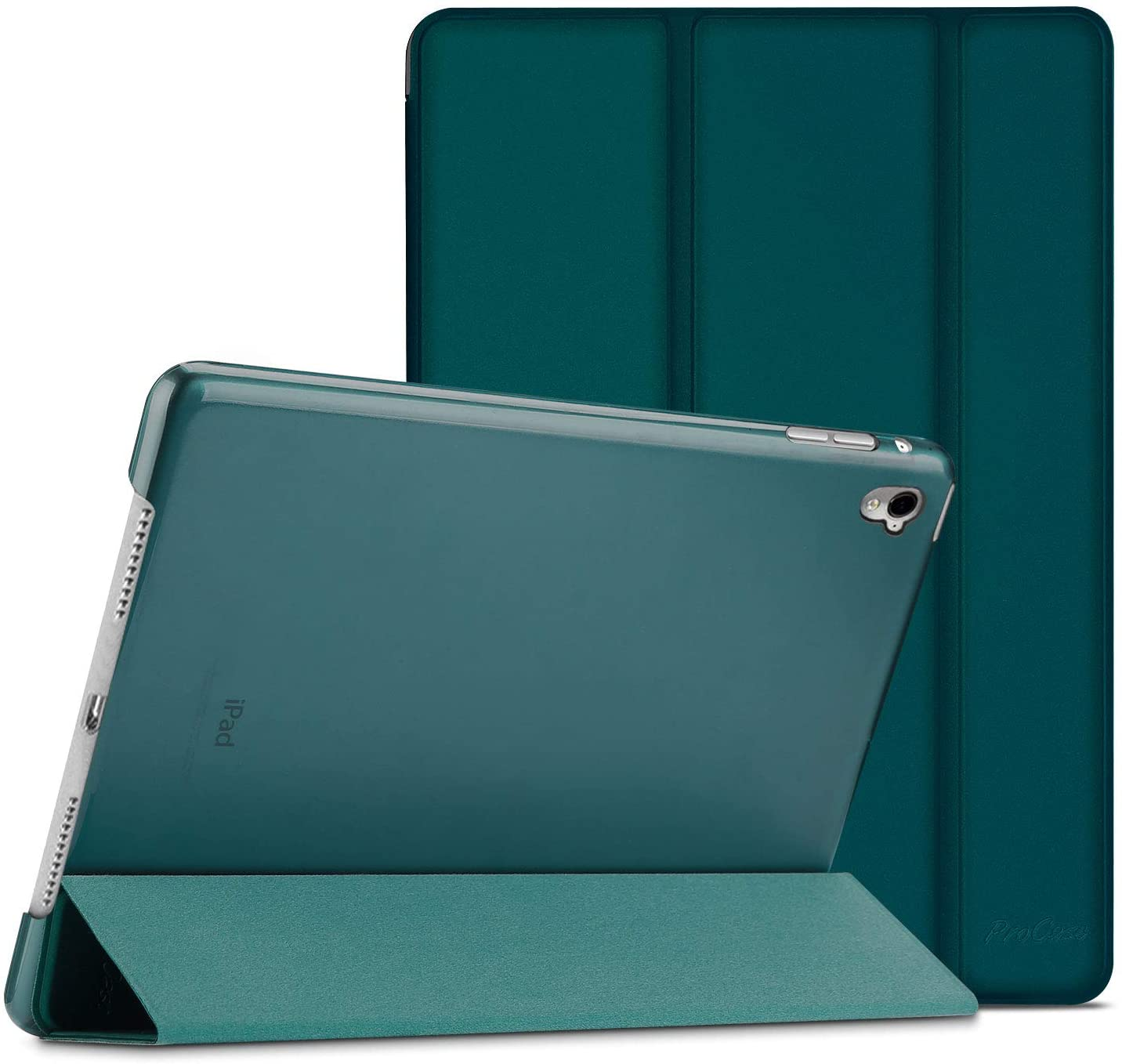 ProCase iPad Pro 9.7 Case 2016 (Old Model), Ultra Slim Lightweight Stand Smart Case Shell with Translucent Frosted Back Cover for Apple iPad Pro 9.7 Inch (A1673 A1674 A1675) -Emerald