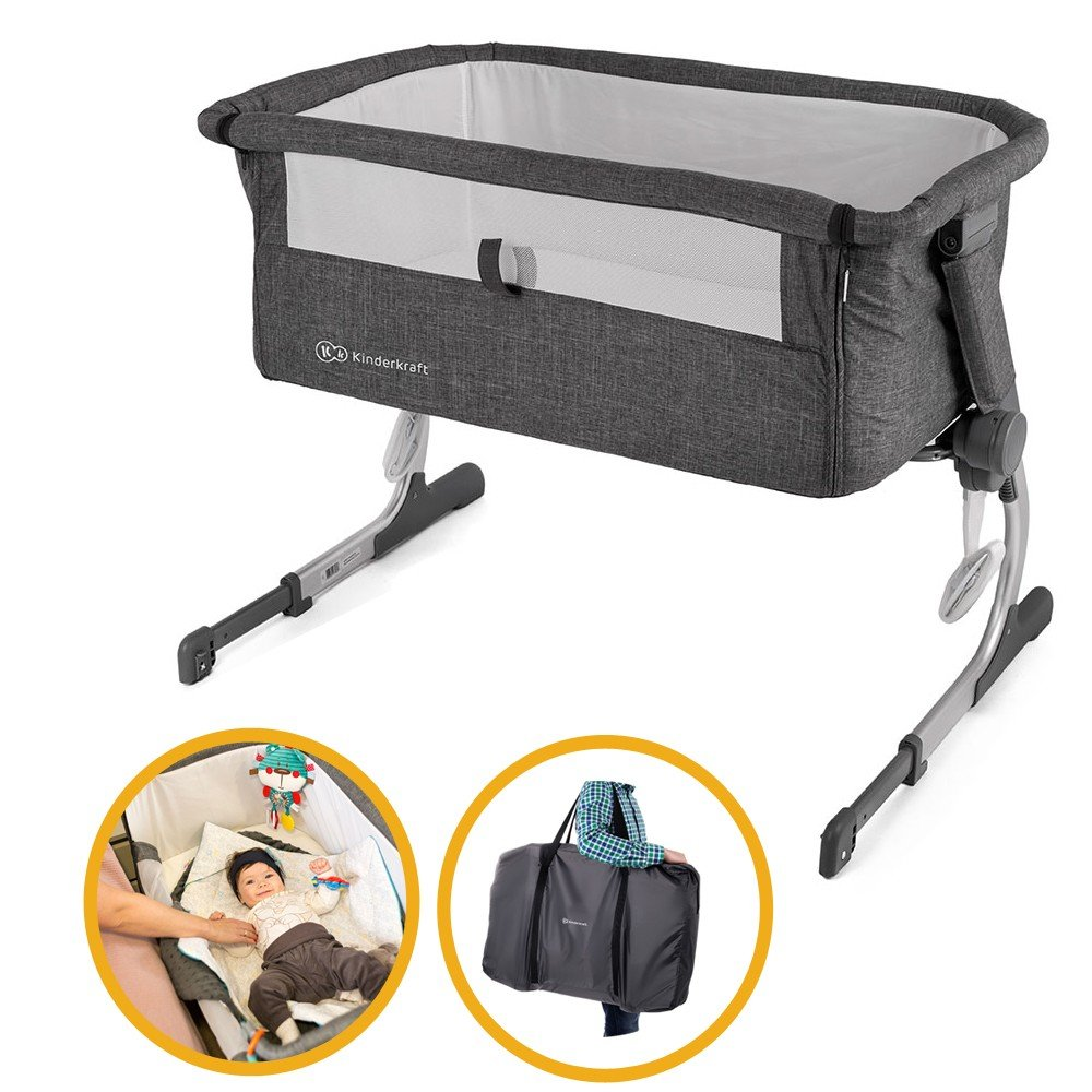 Cododo Uno - 2-in-1 Grey Foldable Baby Cradle. Kinderkraft