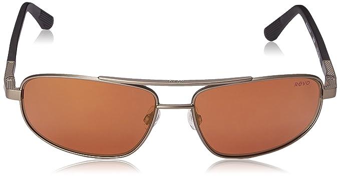 d6f6d3c81 Amazon.com: Revo Nash RE 1013 02 GBL Polarized Aviator Sunglasses,  Brown/Blue Water/ Crystal Lens, 61 mm: Clothing