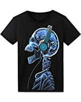 LED T Shirt Sound Activated Funny Shirts Light Up Equalizer Animation Clothes Fancy Dress for Party Hiphop Halloween Concert Cosplay Birthday, Bonus Glow Bracelet