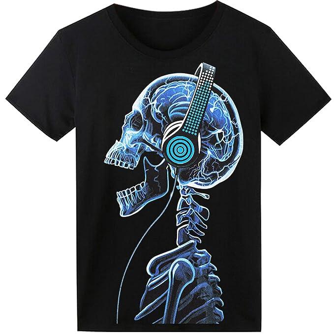 32a6aecce9151 SOOOEC - Camiseta con Luz Led y Sonido Activado  Amazon.es  Ropa y  accesorios