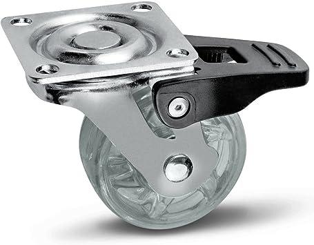 M/öbelrolle Shift /Ø 75 mm transparent mit Bremse