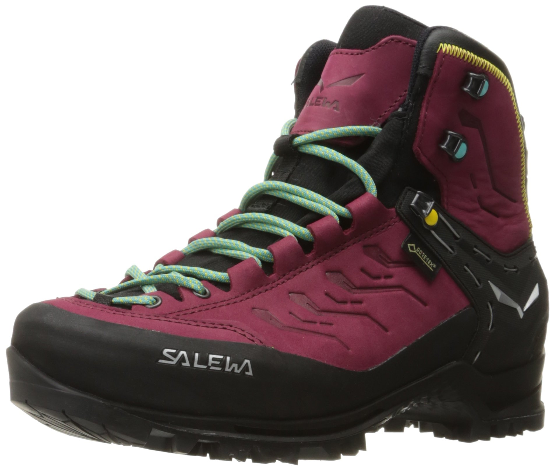 Salewa Women's Rapace GTX Mountaineering Boot, Tawny Port/Limelight, 6