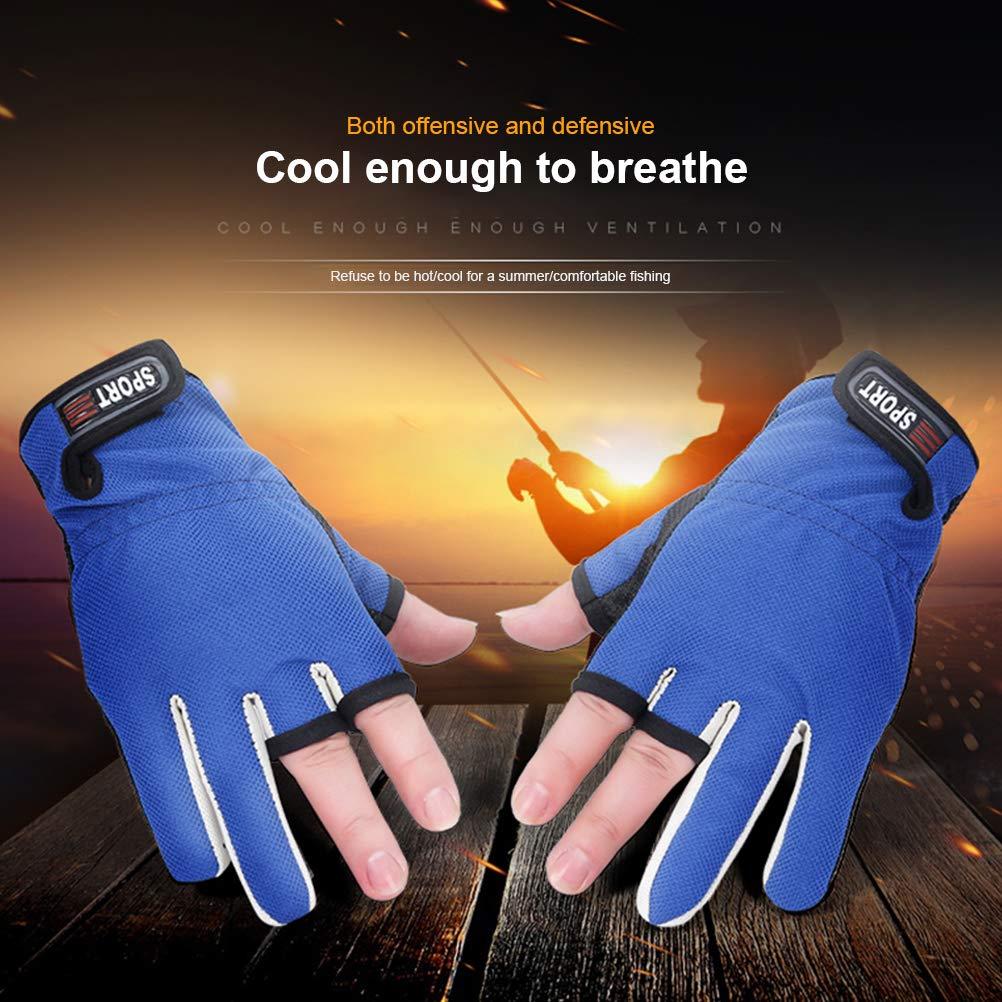 Egosy Angelhandschuhe Fishing Gloves Angel Handschuhe Segelhandschuhe mit /¾-Finger Fishing Sports Neopren-Anglerhandschuhe