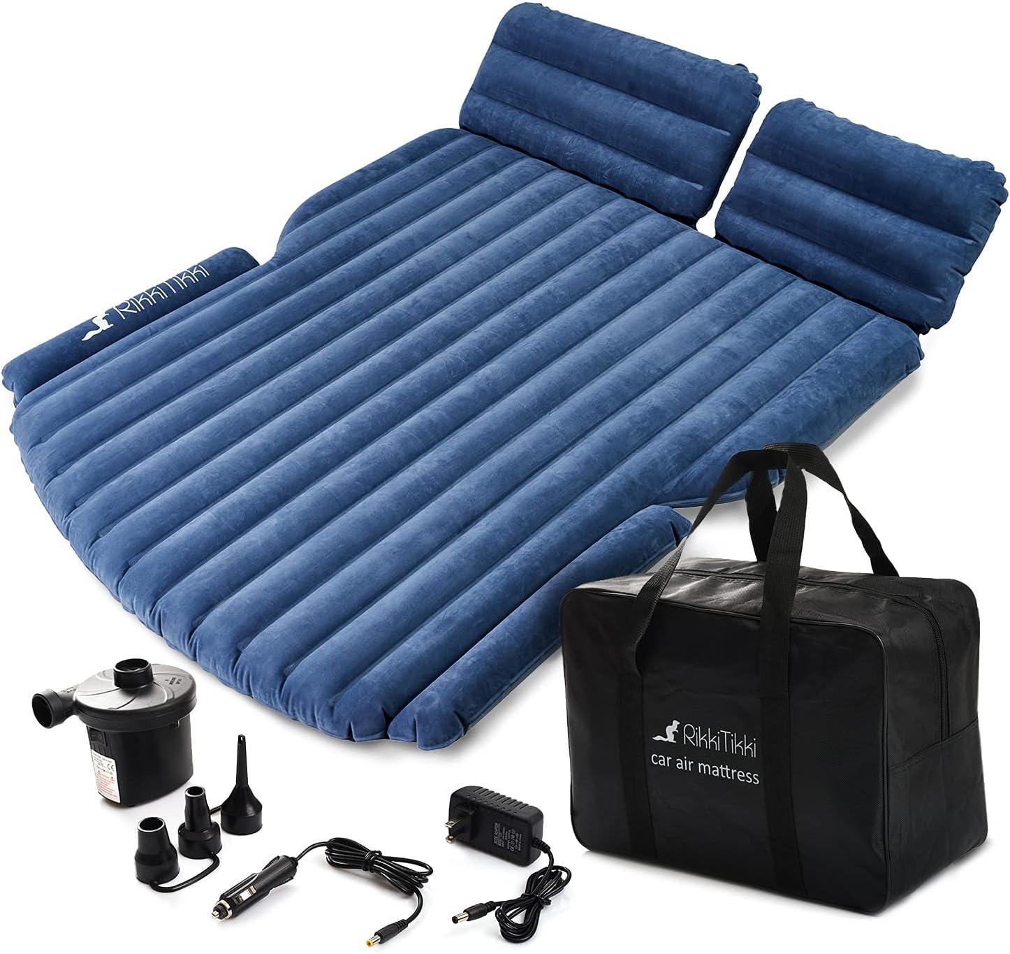 Inflatable Car Air Mattress Compact Twin Size Vacation Camping Minivan SUV Truck Portable Travel Back Seat Blow-Up Sleeping Pad