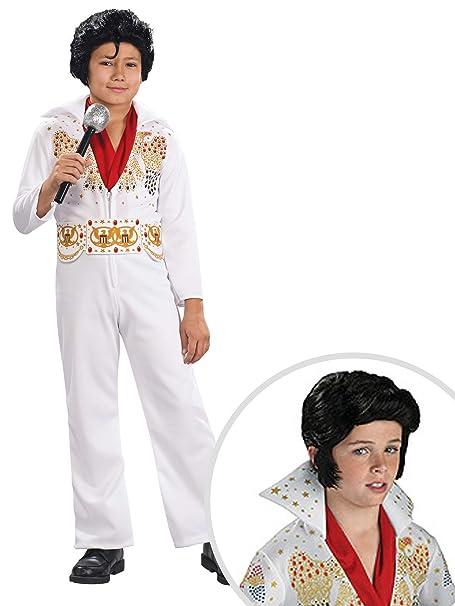 Amazon.com: Elvis - Kit de disfraz con peluca para niños, M ...