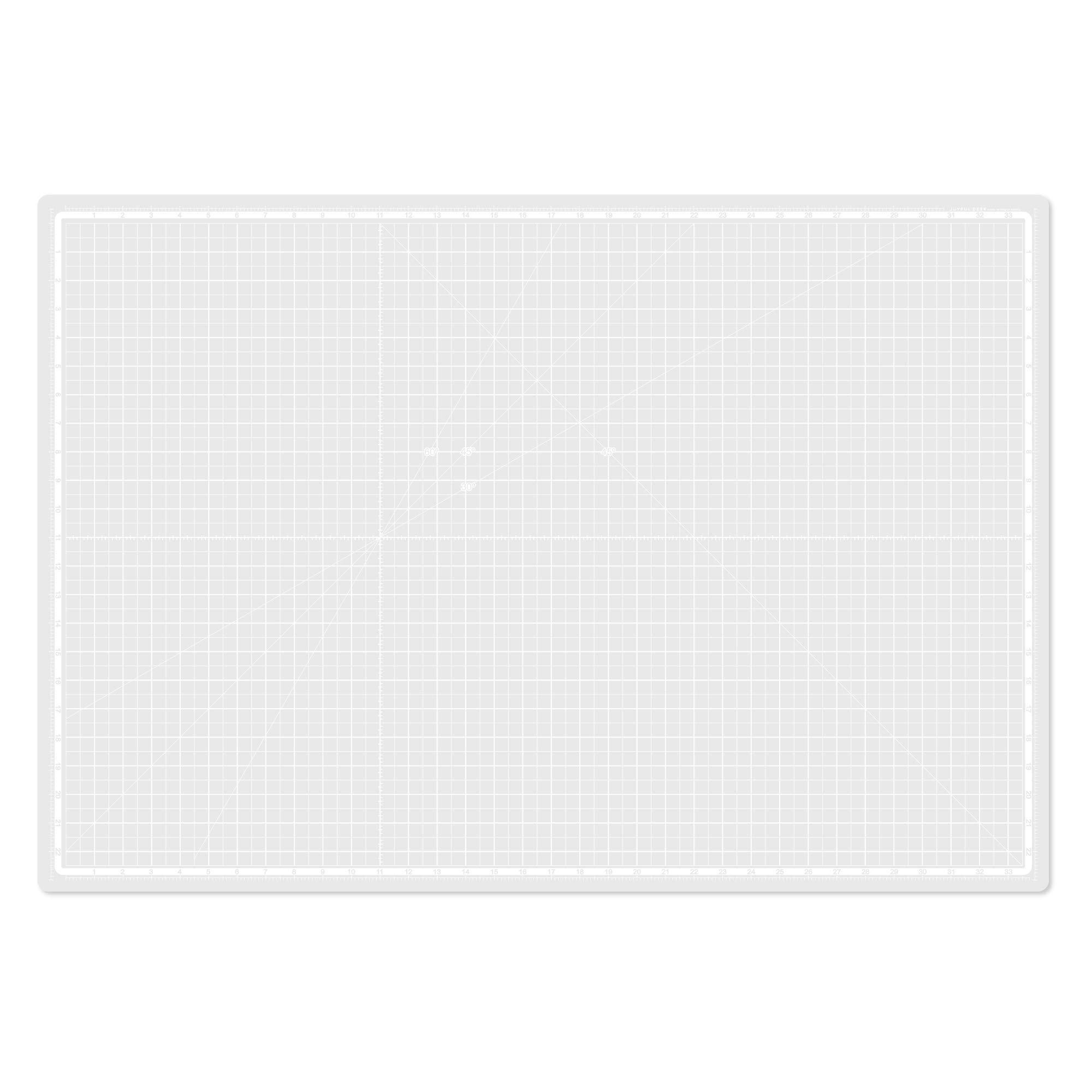 Joyful Desk Self Healing 8-Layers Translucent Cutting Mat A1 White, 22 x 33 inches for Sewing, Crafting, Quilting and Other Art Works by Joyful Desk