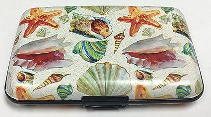 e164c41ff038 Amazon.com: Fig Design Group Seashells and Starfish RFID Secure ...
