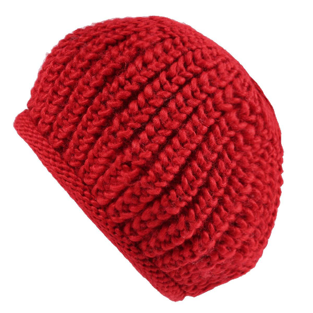 CACUSS Women's French Beret Hat Autumn Knitted Winter Warm Cap Beanie Hat Z0312Beige
