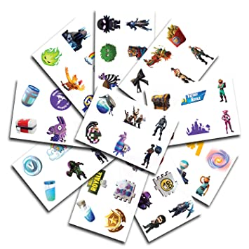 10 Sheets 60 Temporary Tattoos Of Battle Royale Characters Birthday Party Supplies Favors Easy To Use Safe Durable Tattoos For Children