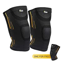 Deals on JBM Adult Gym Knee Braces Support Compression Sleeve