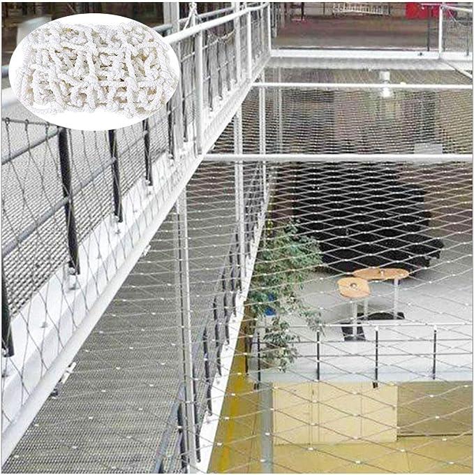 Wgg Seguridad for Niños Net, Escalada al Aire Libre Protector Red Blanca Tejida Cuerda Neto barandilla del balcón de Techo Escalera Decoración (Size : 8 * 8m(26ft*26ft)): Amazon.es: Hogar
