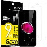 NEW'C 2 Unidades, Protector de Pantalla para iPhone 7 y iPhone 8, Antiarañazos, Antihuellas, Sin Burbujas, 9H, 0.33 mm…
