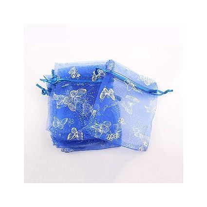 50Pcs Organza Bag Butterfly Design Bolsas de boda Joyas ...