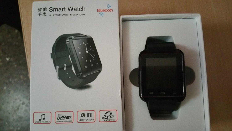 Vktech U8 - SmartWatch para Android, negro