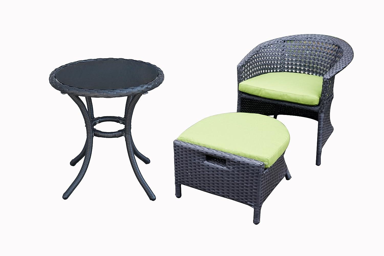 Amazon com orno ttobe 5 piece outdoor wicker patio furniture conversation sets with sunbrella cushion 2 chairs garden outdoor