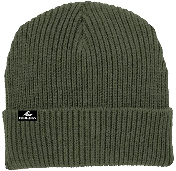 510157bef67 Joe s USA Koloa Surf Heavyweight Watch Hat Knit Ribbed Beanie Cap Army Green