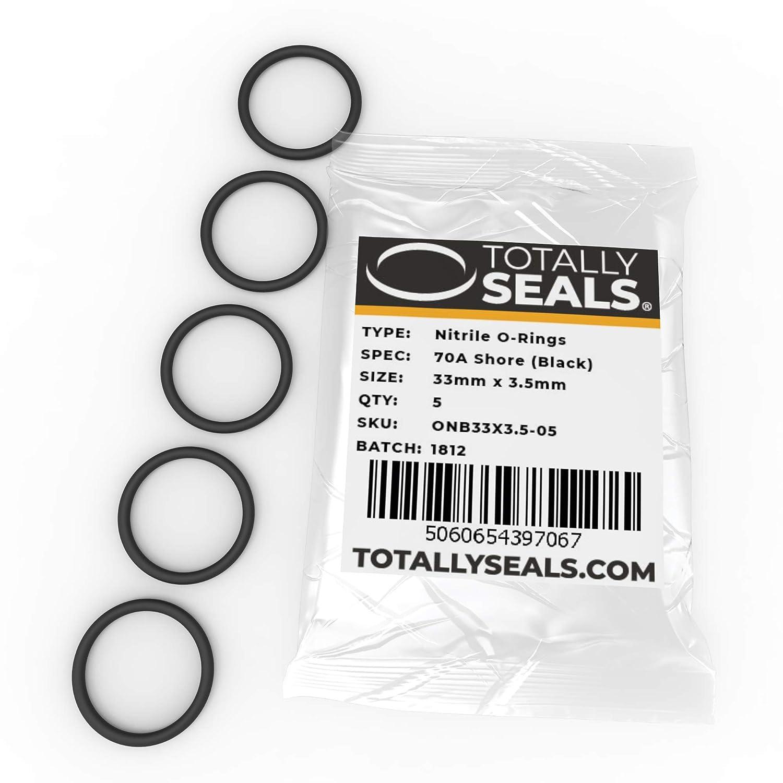 1 Choisissez la taille du paquet - Duret/é de rivage 70 A 40 mm OD Noir Anneaux toriques en caoutchouc nitrile 33 mm x 3,5 mm