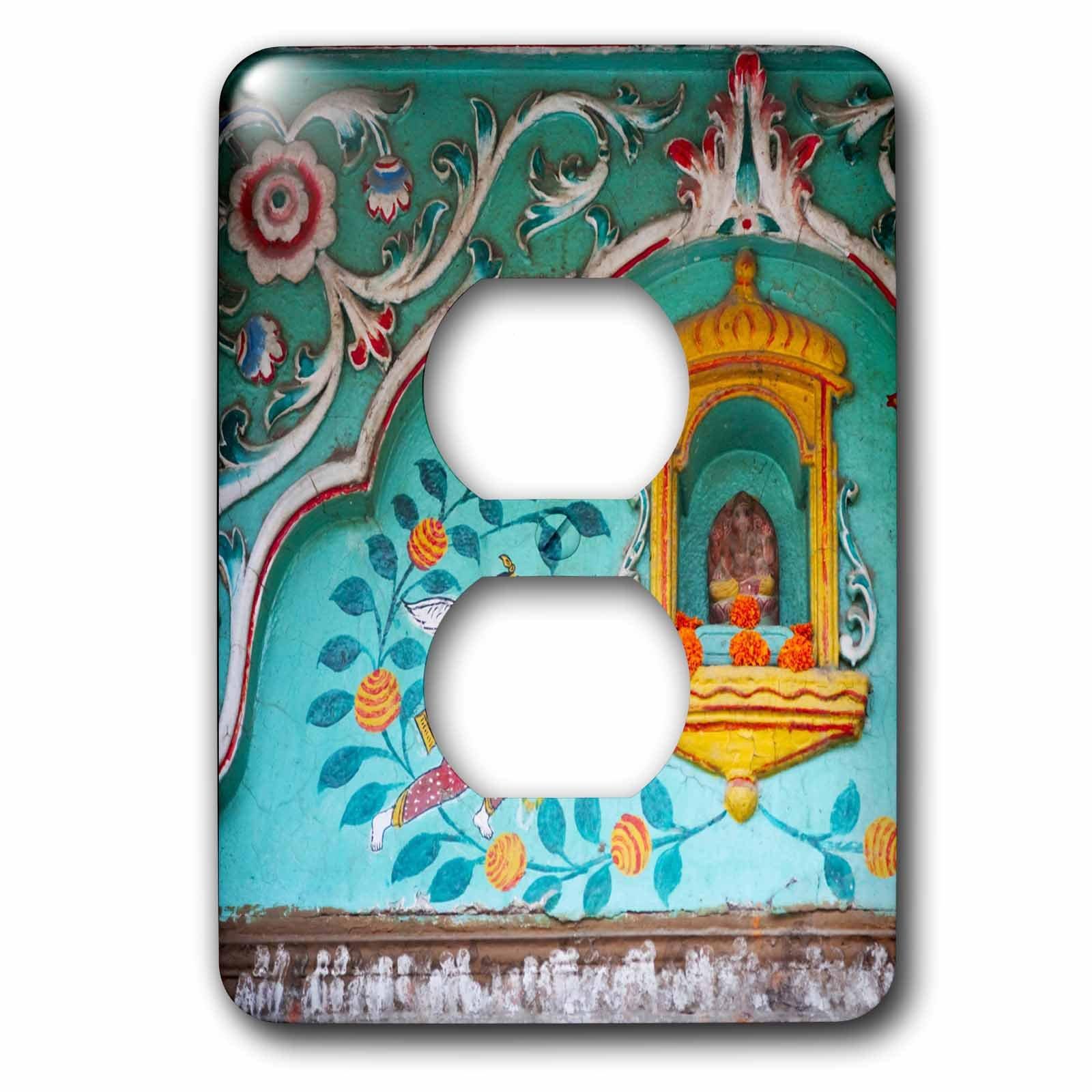 3dRose LLC lsp_132652_6 Architectural Details, Varanasi, India - As10 Ksu0466 - Keren Su 2 Plug Outlet Cover