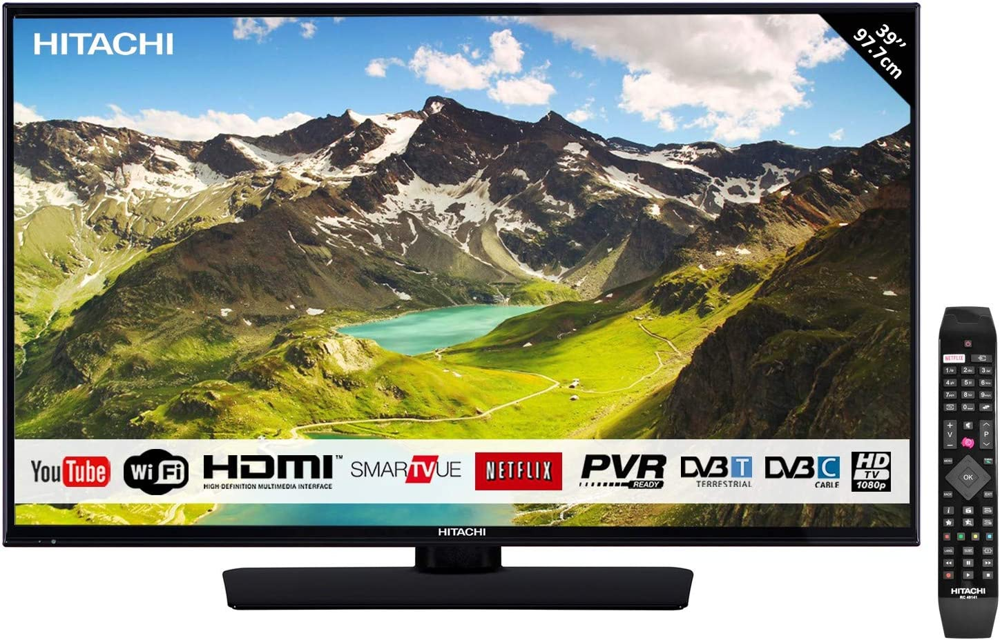 Led TV hitachi 39 39hb4t62 Full HD / Smart TV / WiFi / hdmi x 3 / USB...: Amazon.es: Electrónica