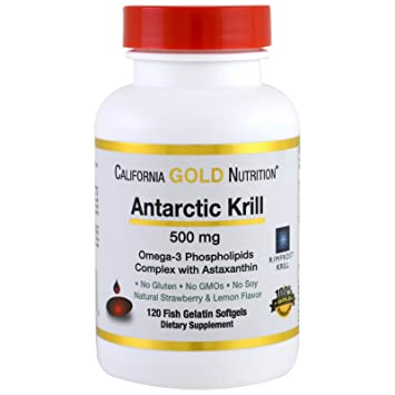 California Gold Nutrition, Antarctic Krill Oil w/Astaxanthin, RIMFROST Krill, Natural Strawberry