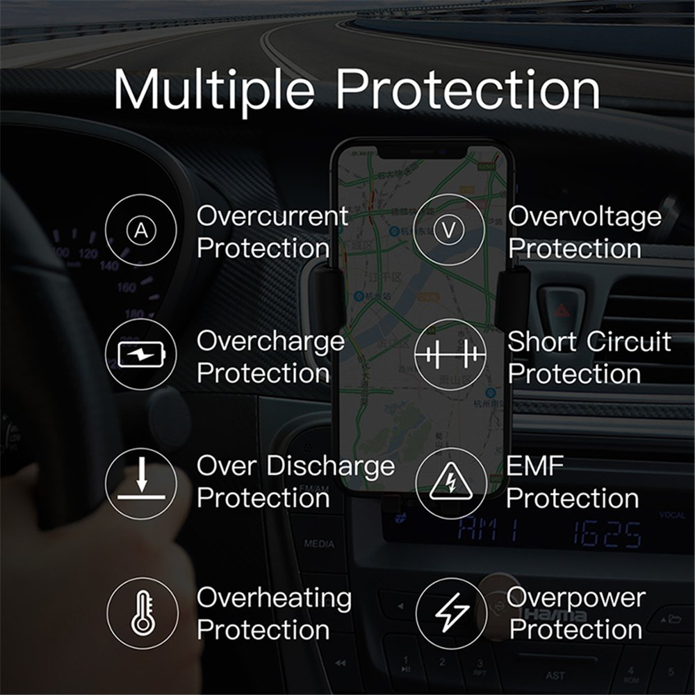 10W Fast Charging Compatible Samsung Galaxy S9//S9+//S8//S8+//Note 8//Note 5 Wireless Fast Car Mount Wireless Car Charger Standard Charging for iPhone Xs Max//Xs//XR//X// 8//8 Plus Top Super 4351609336 Air Vent Phone Holder