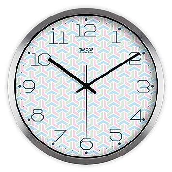 Lili Creative Octogonal Dormitorio 3D Silencio Reloj réplica Relojes de Pared Reloj de Pared Adhesivo para Salón Dormitorios Oficina: Amazon.es: Hogar