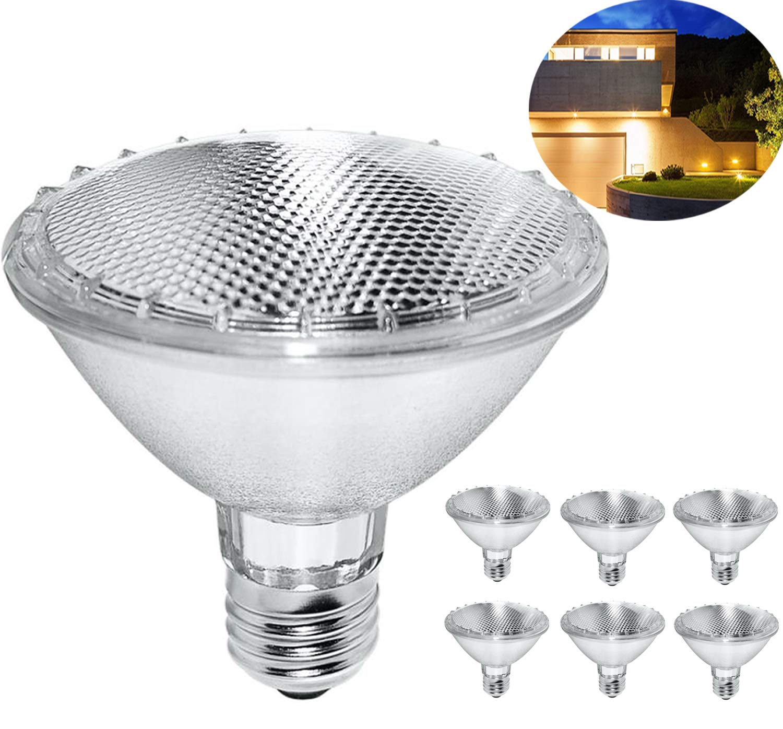 Par30 Short Neck, 6PCS 75W 120V Halogen Flood Light Bulbs, Premium Quality for Long Lasting Life, E26 Base, 3000K Warm White, Great for Accent Lighting, Tracking Light ... (6 Pack)