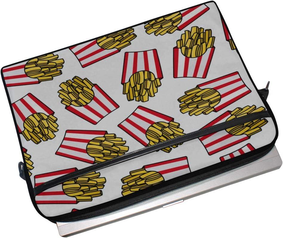 Briefcase Messenger Shoulder Bag for Men Women College Students Business People Office Laptop Bag Crispy French Fries Red 15-15.4 Inch Laptop Case