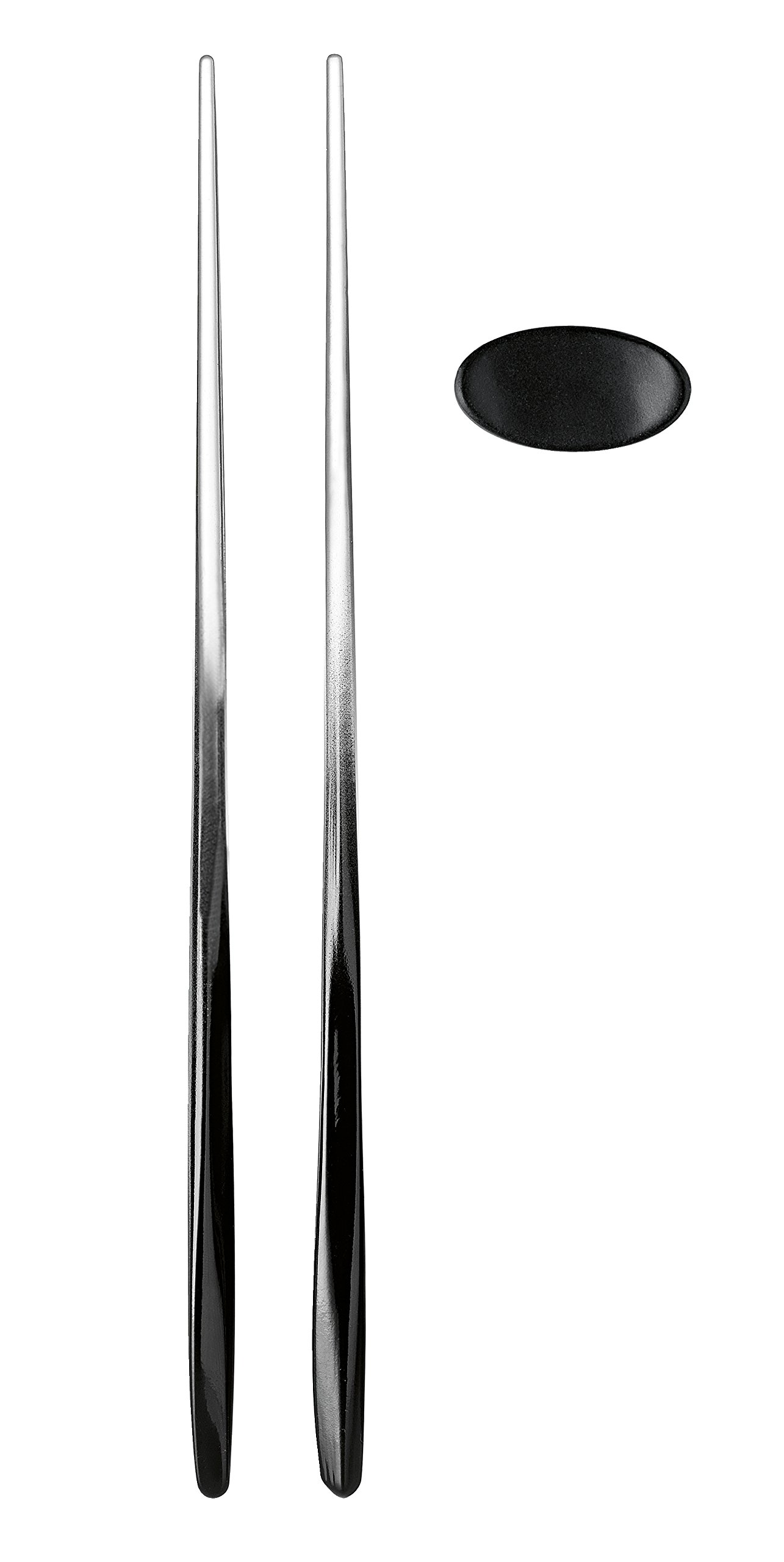 Guzzini My Fusion Collection 2 Tone Chopsticks with Rest, Black, Set of 2