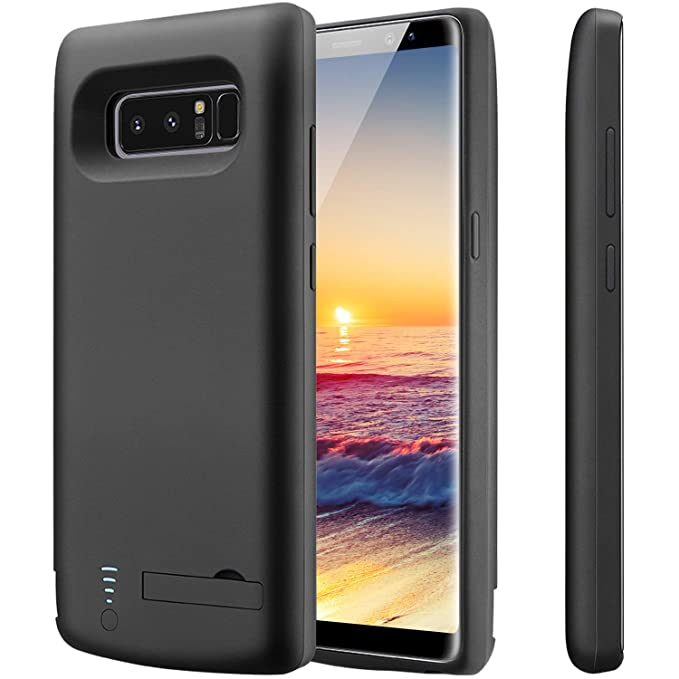 new concept c3d10 f0296 PEYOU Compatible for Galaxy Note 8 Battery Case,6500mAh Slim TPU Frame  Protective Charger Rechargeable Extended Power Bank Type C Charging Battery  ...