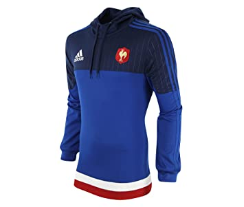 adidas French Federation Rugby Hooded Sudadera, Hombre, Navy/Blue/Red/White, Small: Amazon.es: Deportes y aire libre