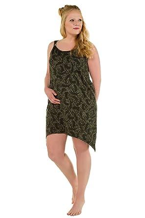 630b3925a0f Ulla Popken Women s Plus Size Leopard Print Stretch Cotton Dress Khaki  Multi 28 30 715858