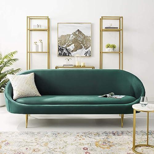 Modway Sublime Channel Tufted Curve Back Performance Velvet Sofa