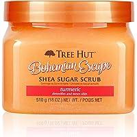 Tree Hut Shea Sugar Scrub Bohemian Escape, 18oz, Ultra Hydrating & Exfoliating Scrub for Nourishing Essential Body Care