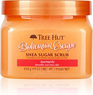 product image for Tree Hut Bohemian Escape Shea Sugar Scrub, 18 oz, Ultra Hydrating and Exfoliating Scrub for Nourishing Essential Body Care