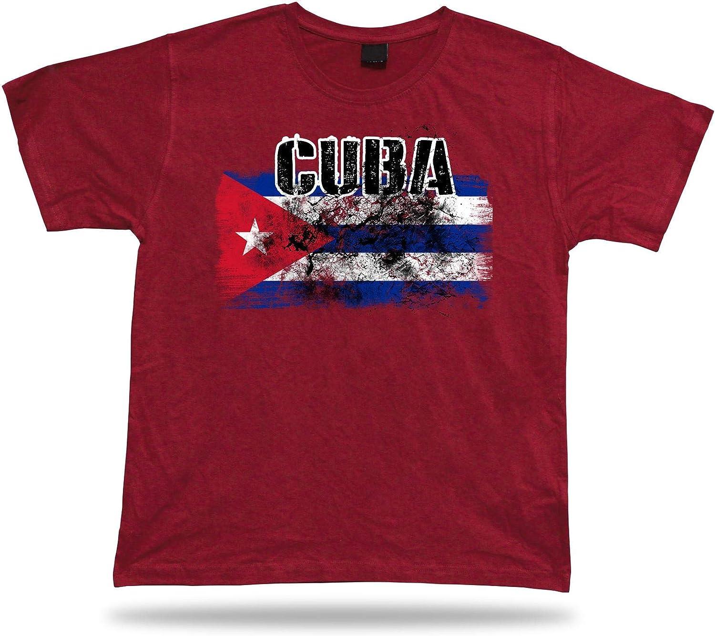 Cuba Camiseta Bandera tee Recuerdo de Viaje tee Regalo Cuba Flag Tshirt: Amazon.es: Ropa y accesorios