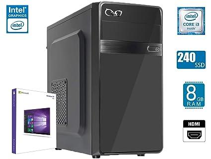 - CEO Theta V2 - Intel Core I3-8100 QUADCORE 4X 3.60GHz 6M | 8GB RAM | SSD 240 GB | USB 3.0 | Tarjeta GRÁFICA Intel UHD 630 | HDMI/VGA | Potencia 500W ...