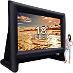 18 feet Inflatable Outdoor Projector Movie Screen - Package with Rope,